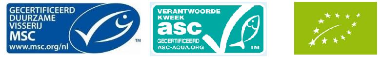 viskeurmerken, duurzaam verantwoorde manier (MSC-ASC)