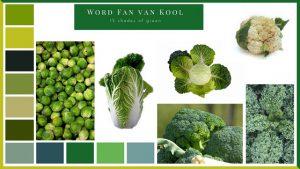 Word Fan van Kool 15 shades of green