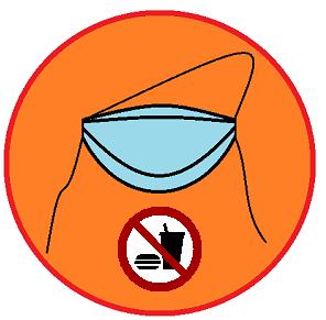 mondkapje eten en drinken verboden