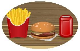 patat hamburger snacks